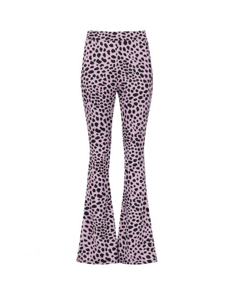 MOST WANTED FLARED PANTS CHEETA LILA