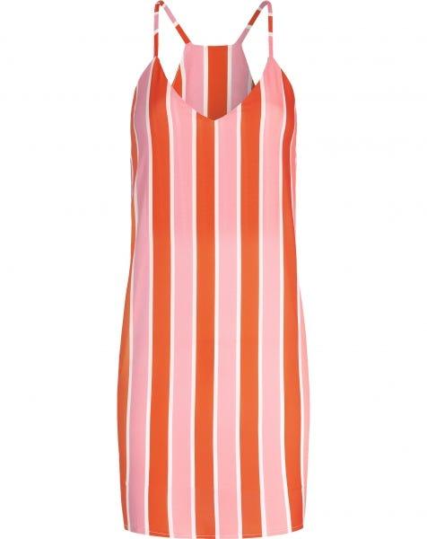 EMMA STRIPE DRESS ORANGE