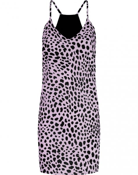EMMA CHEETAH DRESS LILA