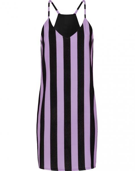 EMMA STRIPE DRESS LILA