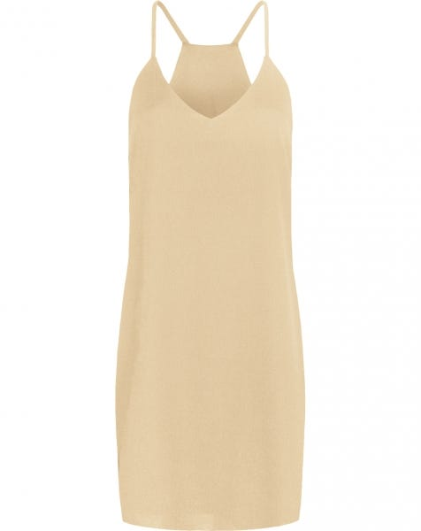 EMMA PLAIN DRESS BEIGE