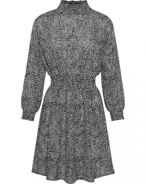 DENA DRESS SMALL LEOPARD BLACK