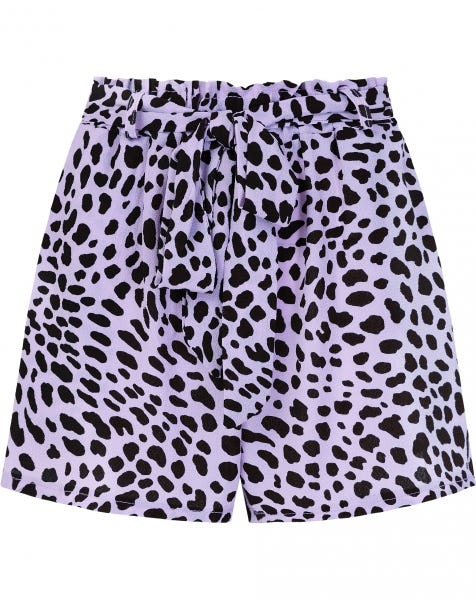 MOST WANTED LILA CHEETA SHORTS