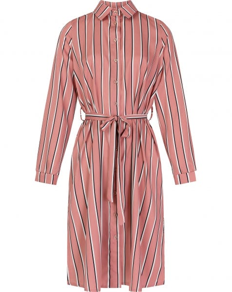 SHAYNA STRIPE DRESS PINK