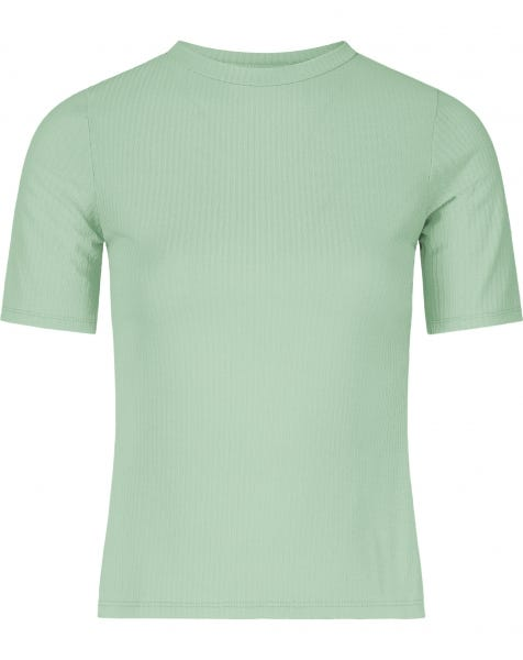 RIBBED COL TEE MINT