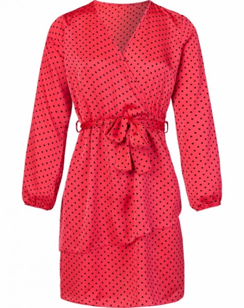 PARIS DOTS DRESS PINK