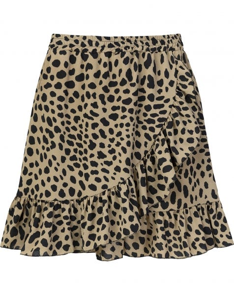 RUFFLE WRAP SKIRT CHEETA