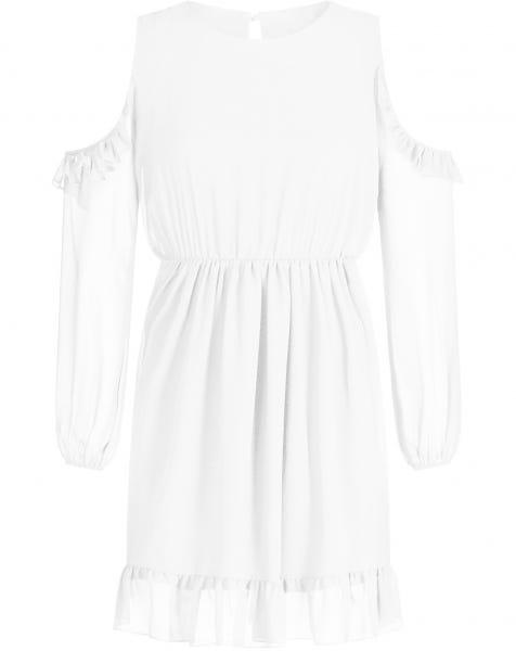 JAYA RUFFLE DRESS WHITE