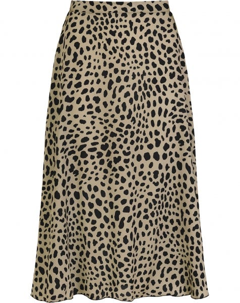 MIDI SKIRT SATIN CHEETA