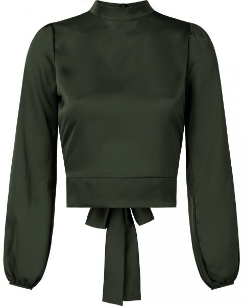 SATIN BOW TOP ARMY