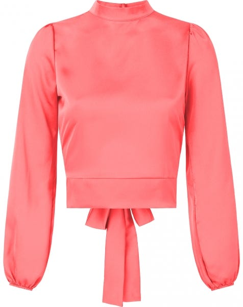 SATIN BOW TOP CORAL