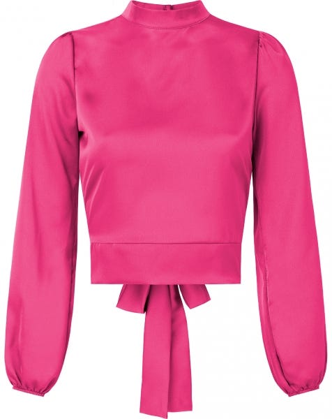 SATIN BOW TOP FUCHSIA