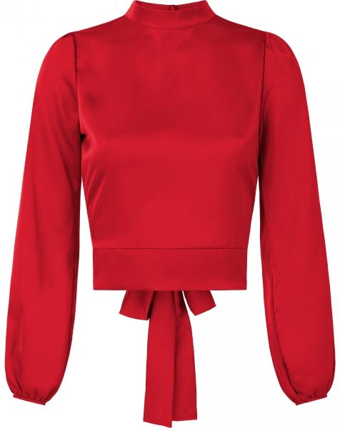 SATIN BOW TOP RED
