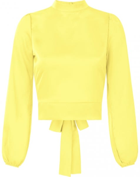 SATIN BOW TOP YELLOW