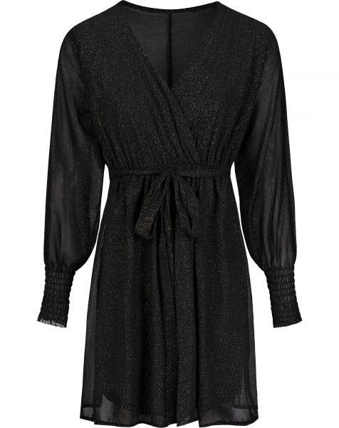 OLIVIA GLITTER DRESS BLACK