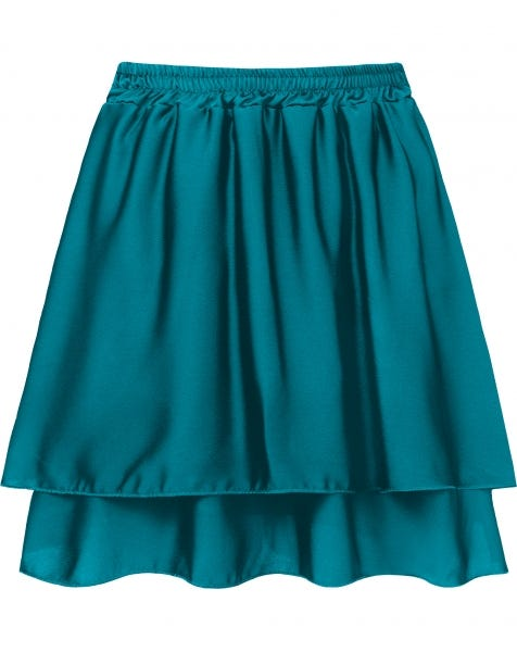 KYLIE SATIN SKIRT SEA BLUE
