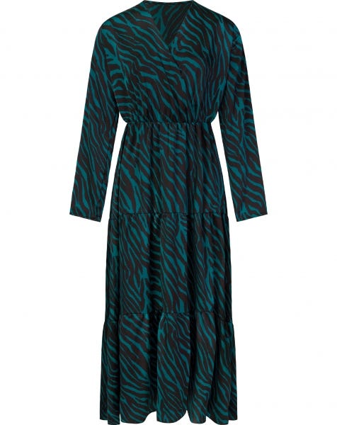ZEBRA MAXI DRESS BLUE