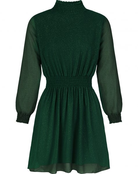 GIGI GOLDEN GLITTER DRESS GREEN