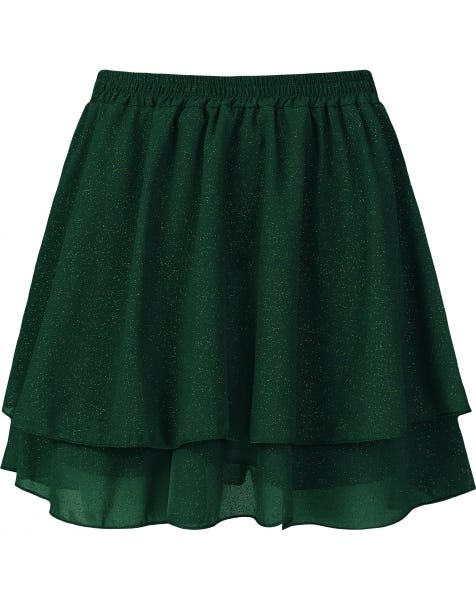 KYLIE GOLDEN GLITTER SKIRT GREEN