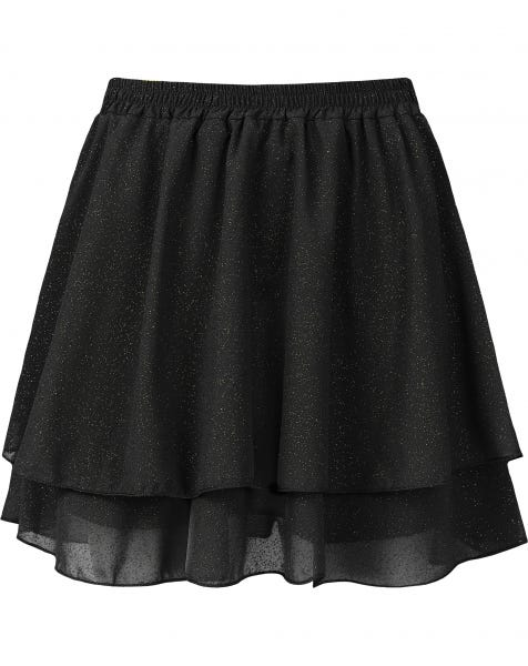 KYLIE GOLDEN GLITTER SKIRT BLACK
