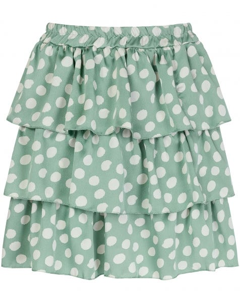 KOURTNEY SKIRT MINT DOTS