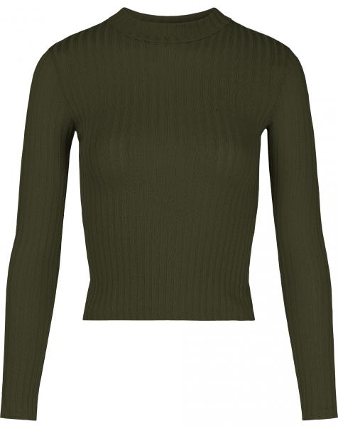 RIBBED COL TOP ARMY