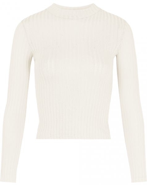 RIBBED COL TOP CREAM