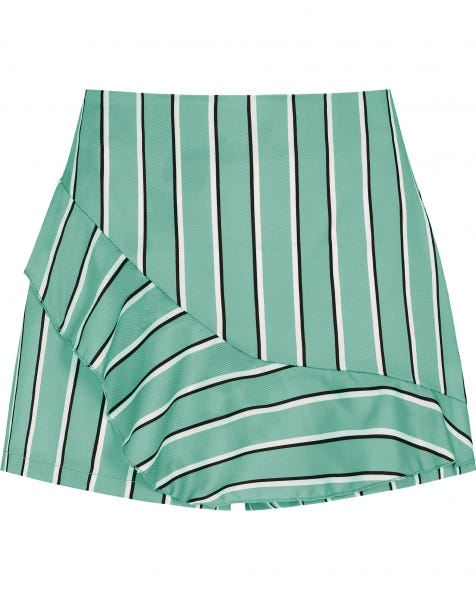 STRIPED RUFFLE SKORT MINT