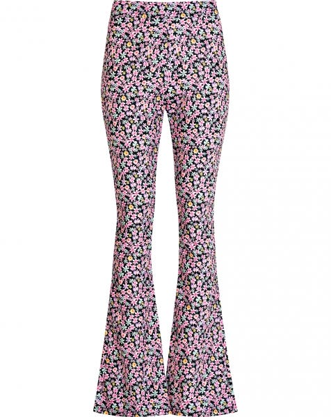 MOST WANTED FLARED PANTS LILA FLOWERS