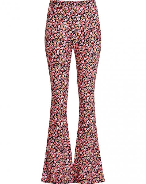MOST WANTED FLARED PANTS PINK FLOWERS
