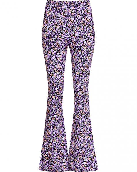 MOST WANTED FLARED PANTS PURPLE FLOWERS