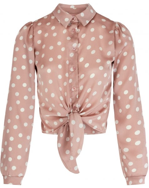 SATIN DOTS BLOUSE