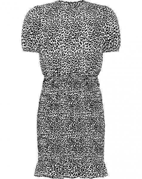 LEOPARD SMOCK DRESS