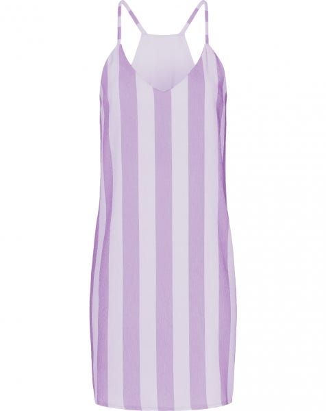 EMMA SMALL STRIPE DRESS LILA