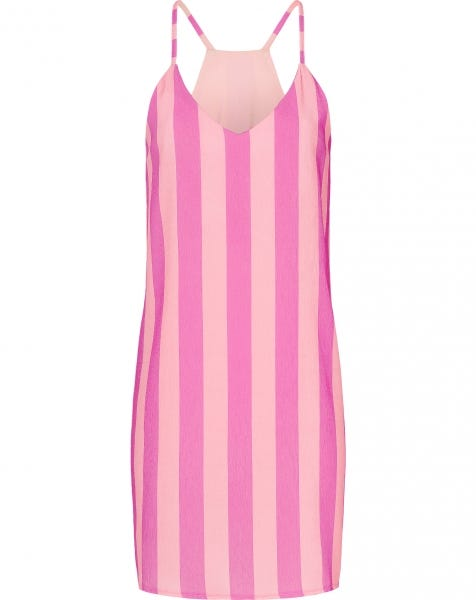 EMMA SMALL STRIPE DRESS PINK