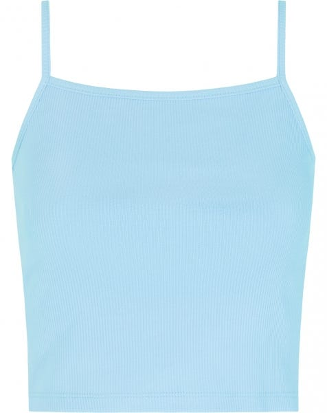 RIBBED CROP TOP BABYBLUE