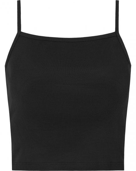 RIBBED CROP TOP BLACK
