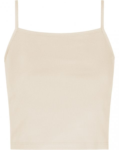 RIBBED CROP TOP SAND