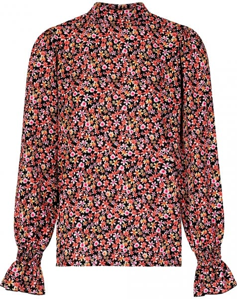 LIV FLOWERS BLOUSE PINK