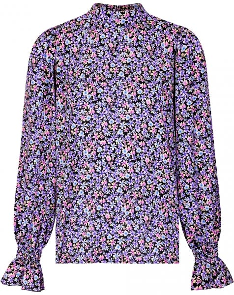 LIV FLOWERS BLOUSE PURPLE