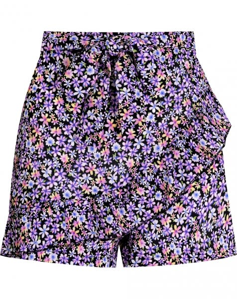 LIV FLOWERS RUFFLE SKORT PURPLE
