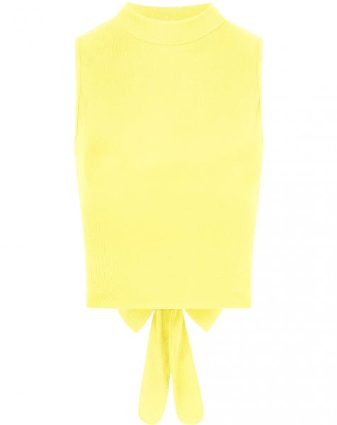 RIBBED TIE TOP YELLOW
