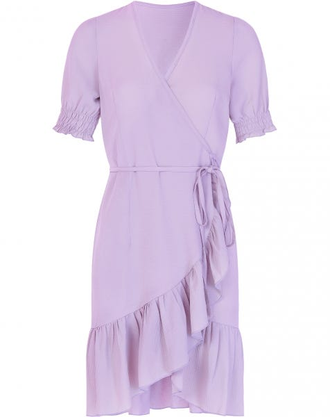 ROSIE WRAP DRESS LILA
