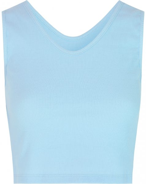 RIBBED V CROP TOP BABYBLUE