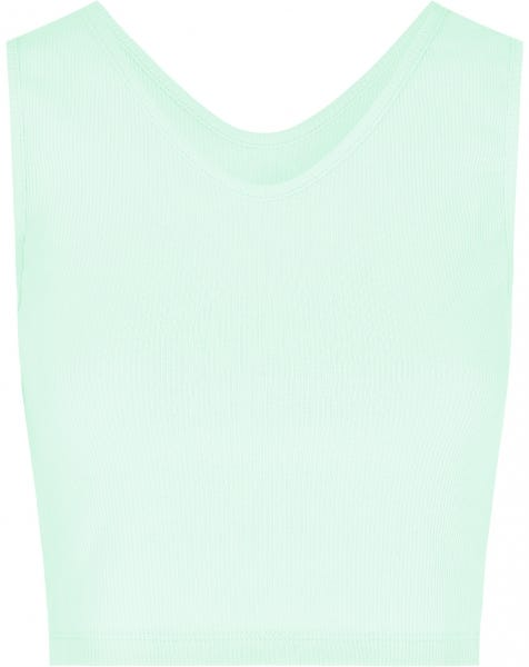 RIBBED V CROP TOP MINT
