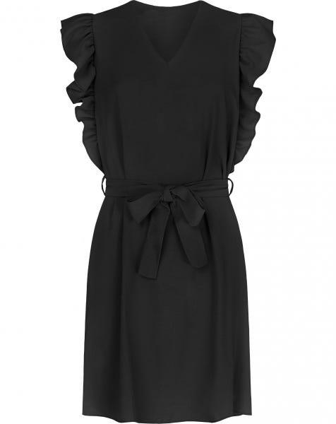 LIV RUFFLE DRESS BLACK