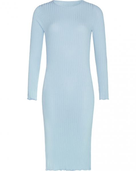 MIDI RUFFLE DRESS BABYBLUE