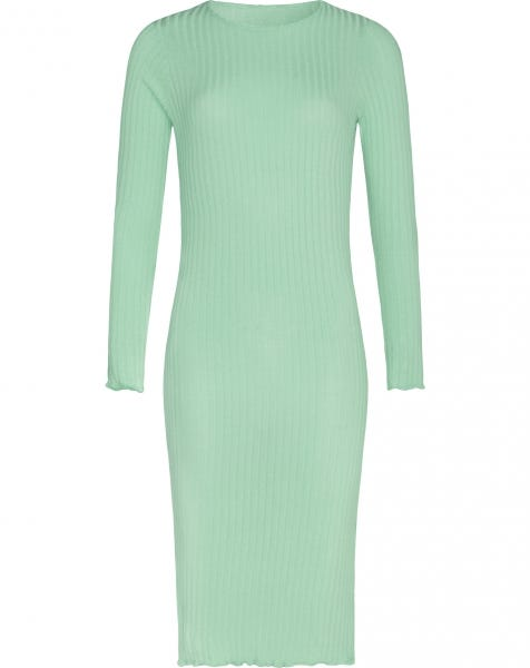 MIDI RUFFLE DRESS MINT