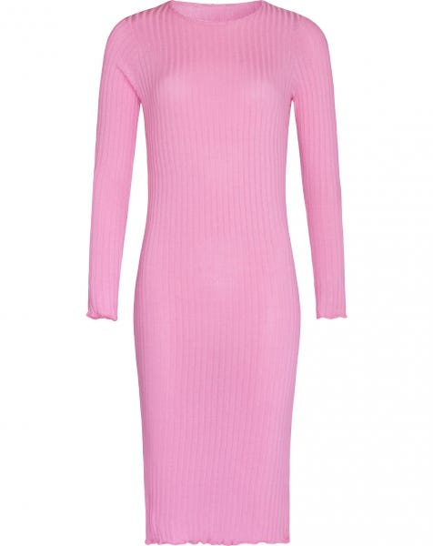 MIDI RUFFLE DRESS PINK
