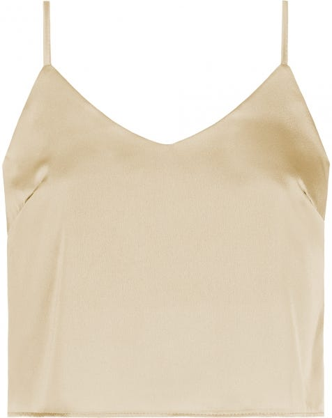 SATIN SLIP TOP BEIGE